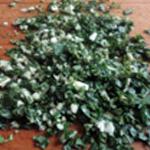 Salade aux aubergines Hacher fin