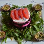 Salade de betterave rouge Poser les fruits de la passions