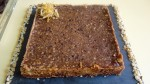 Tarte au chocolat et noisettes