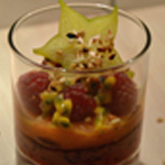 Verrine de fruits Fruit de la passion