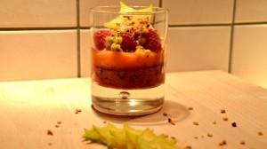 Recette de Verrine de fruits