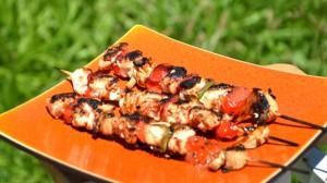 Recette de Brochettes marinées de poulet