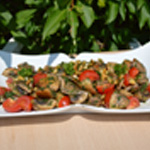 Salade aux champignons salade prête