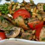 Salade aux champignons Zoom