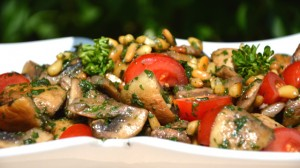 Salade aux champignons Terminer
