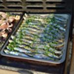 Sardines grillées Sardines sur le barbecue