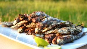 Sardines grillées Terminer