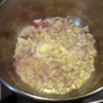 Sauce au vin blanc Saisir les échalotes