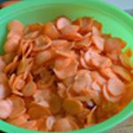 Soupe de carottes Couper les carottes