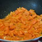 Soupe de carottes Saisir les carottes