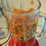 Soupe de carottes Passer au blender