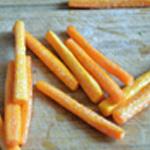 Soupe de carottes Couper les bâtonnets