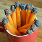 Soupe de carottes Tremper dans le pavot
