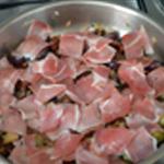 Tagliatelles aux olves Griller le jambon