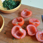 Tartare de tomates Epépiner les tomates