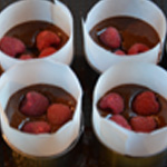 Framboises et chocolat Ajouter les framboises