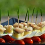 Harengs pomme de terre Planter la ciboulette