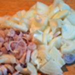 Lasagne Émincer les oignons