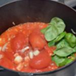 Lasagne Réduire les tomates