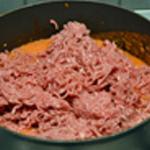 Lasagne Hacher le jambon