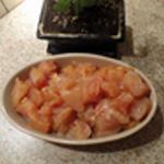 Poulet sauce aigre douce Puis couper en cube