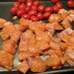 Rillettes aux deux saumons Trancher en cube