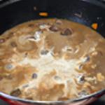 Rognon boeuf et carottes Ajouter la crème