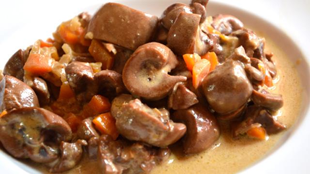 Rognon boeuf et carottes Terminer