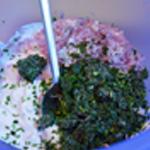 Sauce fromage blanc Mélanger les ingrédients