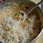 Soufflé au fromage Mélanger le fromage