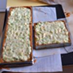 Tarte aux poireaux Verser sur la pâte
