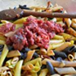 Salade pâtes Ajouter la tapenade de tomate