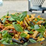 Salade pâtes Ajouter le basilic