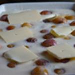 Clafoutis aux mirabelles Beurrer avant le four