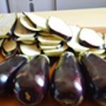 Moussaka Laver les aubergines