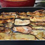 Moussaka Double rangée d'aubergines