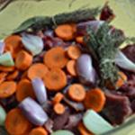 Pâté de sanglier Légumes à marinade