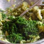 Purée aux légumes Ajouter le persil