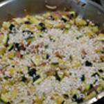 Risotto à la courgette Ajouter le riz