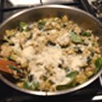 Risotto à la courgette Ajouter le parmesan