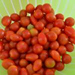 Salade tomates cerise Rincer les tomates