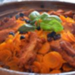 Tajine de carottes Ajouter le raisin
