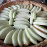 Tarte aux pommes et caramel Serrer les pommes