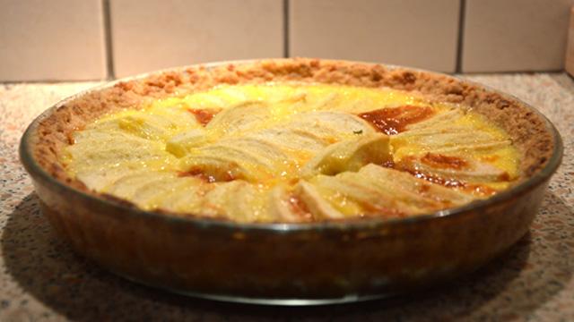 Tarte aux pommes et caramel Terminer