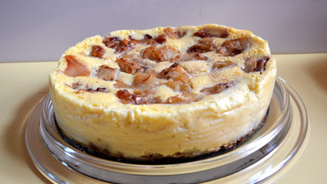 Cheesecake aux pommes Terminer
