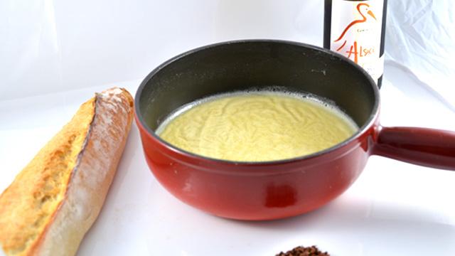 Cancoillotte au beurre Terminer