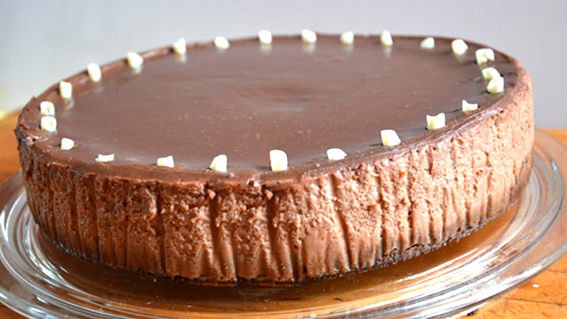 Cheesecake au chocolat Terminer