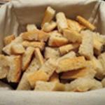 Fondue au st Agur Couper du pain