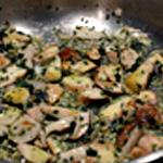 Omelette aux cèpes Ajouter le persil