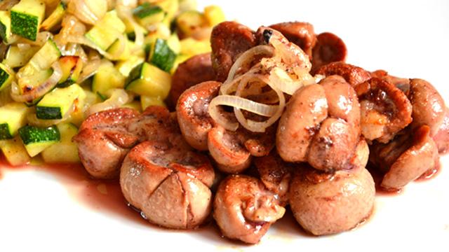 Rognon de veau grillé Terminer